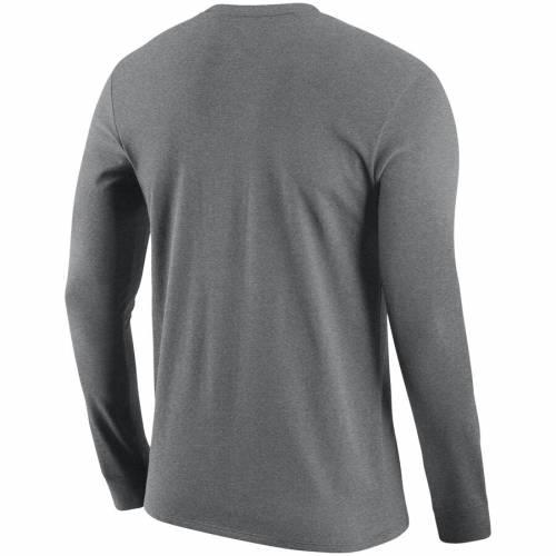 ナイキ NIKE ミシガン スケートボード ロゴ スリーブ Tシャツ 灰色 グレー グレイ メンズファッション トップス カットソー メンズ 【 Michigan State Spartans Arch And Logo Two-hit Long Sleeve T-shirt - H