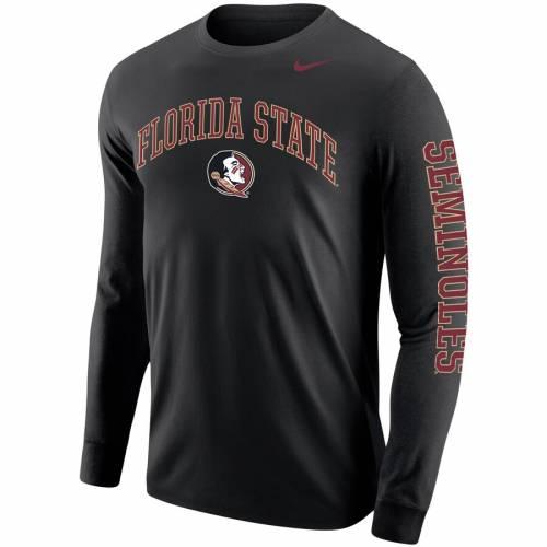 ナイキ NIKE フロリダ スケートボード ロゴ スリーブ Tシャツ 黒 ブラック メンズファッション トップス カットソー メンズ 【 Florida State Seminoles Arch And Logo Two-hit Long Sleeve T-shirt - Black 】 B