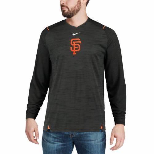 ナイキ NIKE ジャイアンツ スリーブ パフォーマンス Tシャツ 黒 ブラック メンズファッション トップス カットソー メンズ 【 San Francisco Giants Ac Breathe Long Sleeve Performance T-shirt - Black 】 Blac