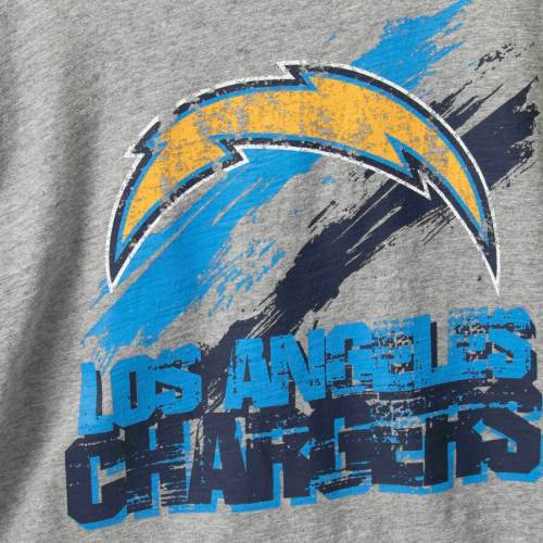 G-III SPORTS BY CARL BANKS チャージャーズ レシーバー スリーブ Tシャツ メンズファッション トップス カットソー メンズ 【 Los Angeles Chargers Wide Receiver Long Sleeve T-shirt - Heathered Gray/navy 】 Heather