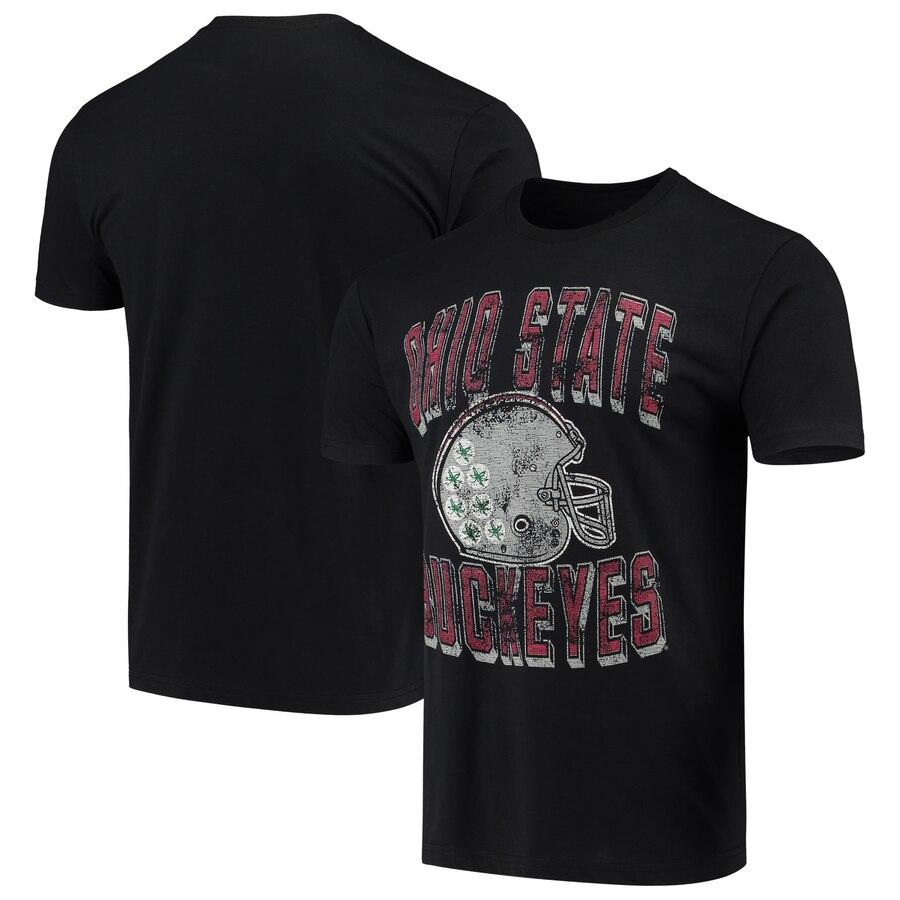 4TH AND 1 オハイオ スケートボード ビンテージ ヴィンテージ Tシャツ メンズファッション トップス カットソー メンズ 【 Ohio State Buckeyes Running Vintage Staple T-shirt - Scarlet 】 Black