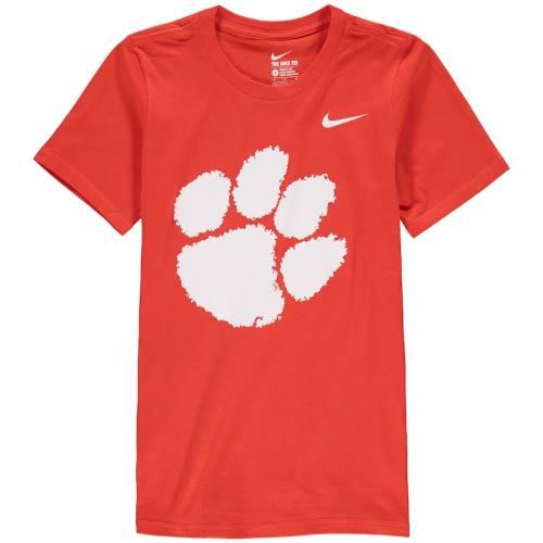 ナイキ NIKE タイガース 子供用 ロゴ Tシャツ 紫 パープル キッズ ベビー マタニティ トップス ジュニア 【 Clemson Tigers Youth Cotton Logo T-shirt - Purple 】 Orange