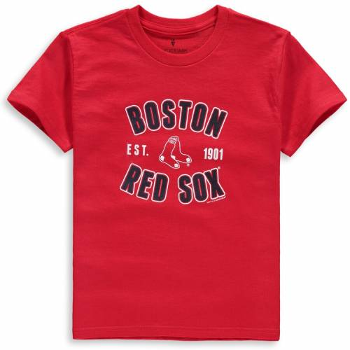 SOFT AS A GRAPE ボストン 赤 レッド 子供用 Tシャツ キッズ ベビー マタニティ トップス ジュニア 【 Boston Red Sox Youth Cotton Crew Neck T-shirt - Red 】 Red