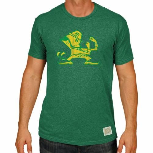 ORIGINAL RETRO BRAND Tシャツ 黒 ブラック メンズファッション トップス カットソー メンズ 【 Notre Dame Fighting Irish Big And Tall Mock Twist T-shirt - Black 】 Green