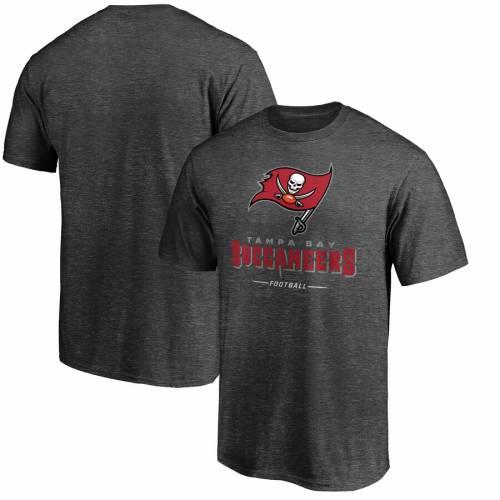 NFL PRO LINE BY FANATICS BRANDED バッカニアーズ プロ チーム Tシャツ 白 ホワイト メンズファッション トップス カットソー メンズ 【 Tampa Bay Buccaneers Nfl Pro Line Team Lockup T-shirt - White 】 Heather Gray
