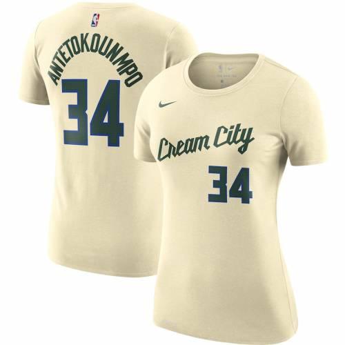 ナイキ NIKE ミルウォーキー バックス レディース シティ チーム パフォーマンス Tシャツ クリーム ? レディースファッション トップス カットソー 【 Milwaukee Bucks Womens 2019/20 City Edition N