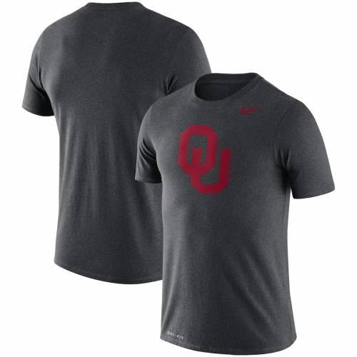 ナイキ NIKE レジェンド ロゴ パフォーマンス Tシャツ チャコール メンズファッション トップス カットソー メンズ 【 Oklahoma Sooners Legend Logo Performance T-shirt - Heathered Charcoal 】 Heathered Charco