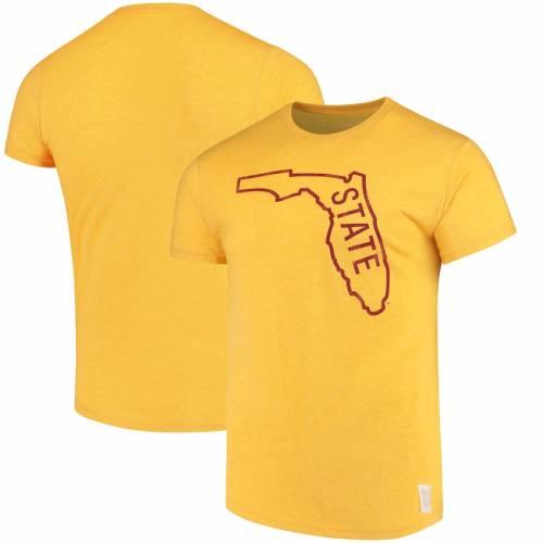 ORIGINAL RETRO BRAND フロリダ スケートボード ロゴ Tシャツ メンズファッション トップス カットソー メンズ 【 Florida State Seminoles State School Logo Mock Twist T-shirt - Gold 】 Gold