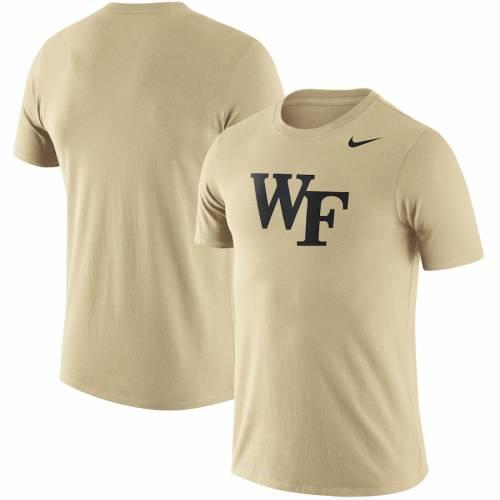 ナイキ NIKE フォレスト レジェンド ロゴ パフォーマンス Tシャツ メンズファッション トップス カットソー メンズ 【 Wake Forest Demon Deacons Legend Logo Performance T-shirt - Gold 】 Gold