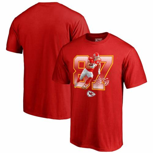 NFL PRO LINE BY FANATICS BRANDED カンザス シティ チーフス Tシャツ 赤 レッド メンズファッション トップス カットソー メンズ 【 Travis Kelce Kansas City Chiefs Powerhouse Player T-shirt - Red 】 Red