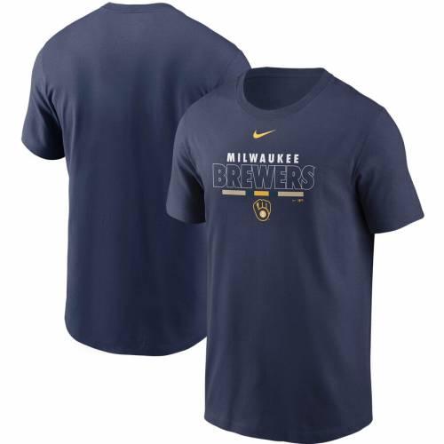 ナイキ NIKE ミルウォーキー ブルワーズ Tシャツ 灰色 グレー グレイ メンズファッション トップス カットソー メンズ 【 Milwaukee Brewers Color Bar T-shirt - Gray 】 Navy