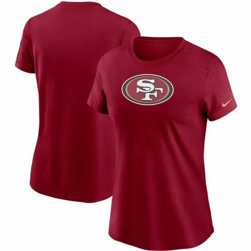 ナイキ NIKE フォーティーナイナーズ レディース ロゴ Tシャツ レディースファッション トップス カットソー 【 San Francisco 49ers Womens Logo Essential T-shirt 】 Scarlet