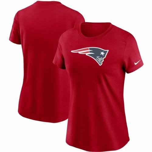 ナイキ NIKE ペイトリオッツ レディース ロゴ Tシャツ 紺 ネイビー レディースファッション トップス カットソー 【 New England Patriots Womens Logo Essential T-shirt - Navy 】 Red