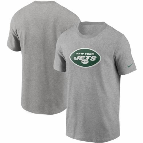 ナイキ NIKE ジェッツ ロゴ Tシャツ 灰色 グレー グレイ メンズファッション トップス カットソー メンズ 【 New York Jets Primary Logo T-shirt - Heathered Gray 】 Heather Gray