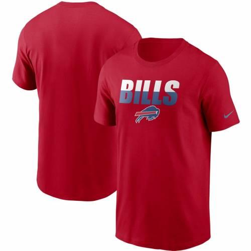 ナイキ NIKE バッファロー ビルズ Tシャツ メンズファッション トップス カットソー メンズ 【 Buffalo Bills Split T-shirt - Royal 】 Red