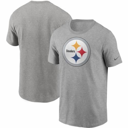 ナイキ NIKE ピッツバーグ スティーラーズ ロゴ Tシャツ 黒 ブラック メンズファッション トップス カットソー メンズ 【 Pittsburgh Steelers Primary Logo T-shirt - Black 】 Heather Gray