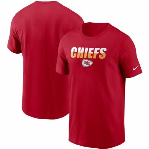 ナイキ NIKE カンザス シティ チーフス Tシャツ 黒 ブラック メンズファッション トップス カットソー メンズ 【 Kansas City Chiefs Split T-shirt - Black 】 Red
