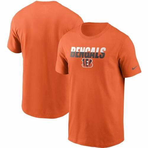ナイキ NIKE シンシナティ ベンガルズ Tシャツ 黒 ブラック メンズファッション トップス カットソー メンズ 【 Cincinnati Bengals Split T-shirt - Black 】 Orange