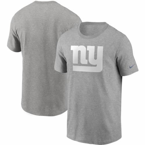 ナイキ NIKE ジャイアンツ ロゴ Tシャツ 灰色 グレー グレイ メンズファッション トップス カットソー メンズ 【 New York Giants Primary Logo T-shirt - Heathered Gray 】 Heather Gray