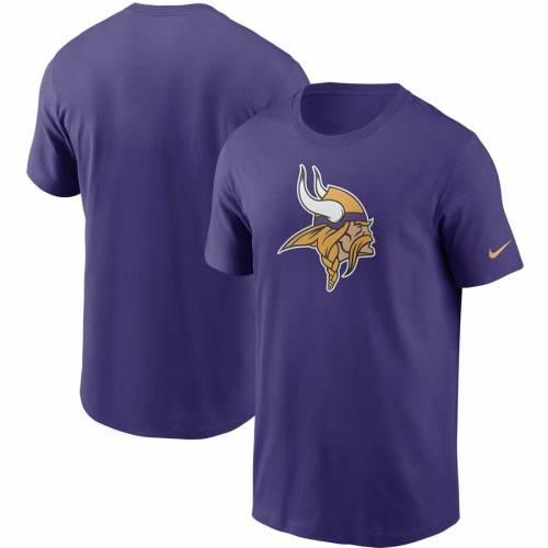 ナイキ NIKE ミネソタ バイキングス ロゴ Tシャツ 黒 ブラック メンズファッション トップス カットソー メンズ 【 Minnesota Vikings Primary Logo T-shirt - Black 】 Purple