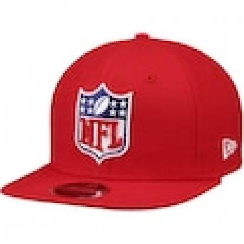 スポーツブランド カジュアル ファッション キャップ ハット ニューエラ NEW ERA エラ ロゴ スナップバック バッグ 赤 HAT LOGO SHIELD セール 登場から人気沸騰 メンズキャップ 9FIFTY ADJUSTABLE 信託 SNAPBACK ORIGINAL FIT RED NFL 帽子 レッド