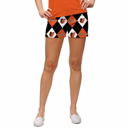 ラウドマウス LOUDMOUTH ボルティモア オリオールズ レディース ショーツ ハーフパンツ 橙 オレンジ 灰色 グレー グレイ ボルチモア WOMEN'S  【 ORANGE GRAY LOUDMOUTH ARGYLE MINI SHORTS 】