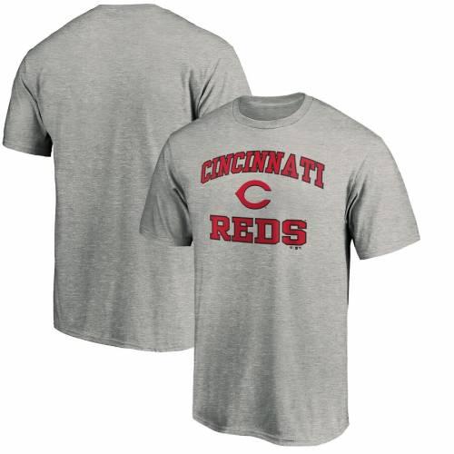 スポーツブランド カジュアル ファッション ファナティクス FANATICS BRANDED シンシナティ Tシャツ 赤 レッド ヘザー 灰色 大好評です TSHIRT グレー SOUL 人気 おすすめ GRAY HEATHER トップス S メンズファッション HEART RED グレイ CINCINNATI