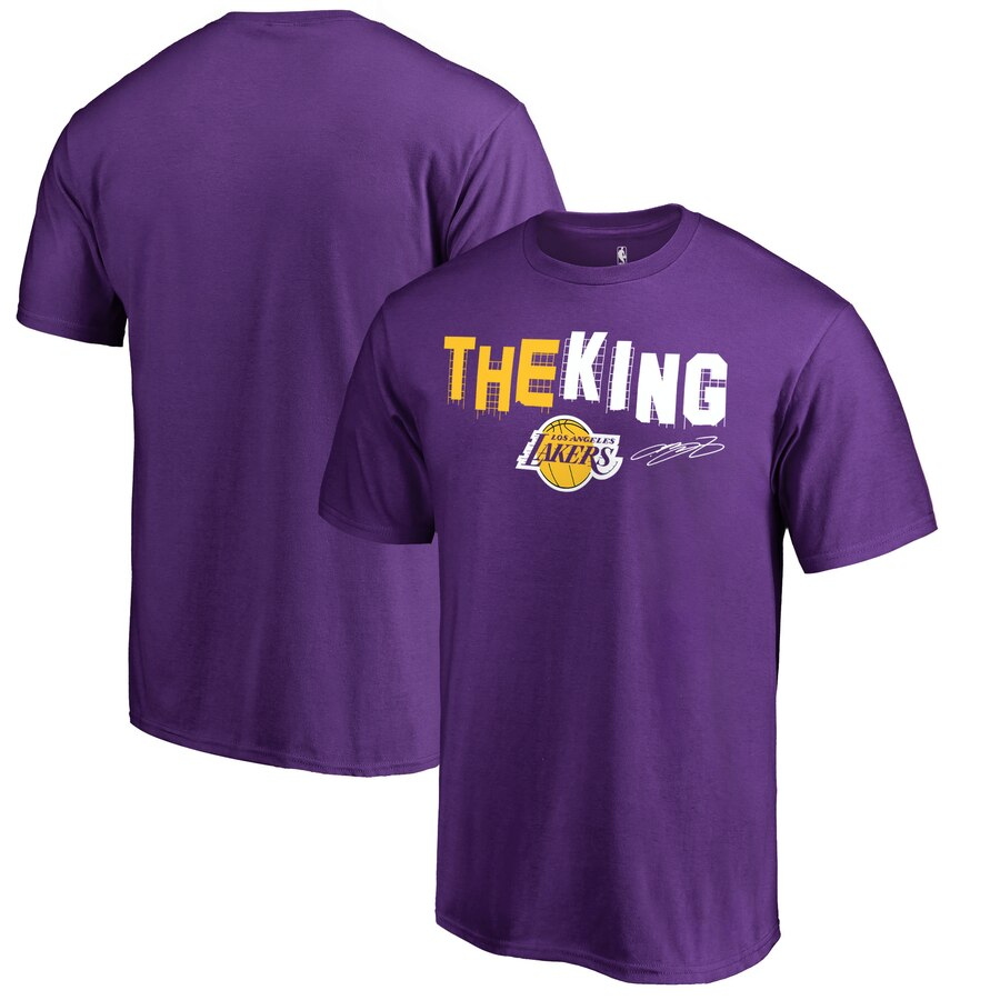 【NeaYearSALE1/1-1/5】FANATICS BRANDED レブロン ジェームズ レイカーズ コレクション Tシャツ 【 LAKERS LEBRON JAMES LOS ANGELES HOMETOWN COLLECTION HOLLYWOOD KING TSHIRT BLACK PURPLE 】 メンズファッション トップス カットソー 送料