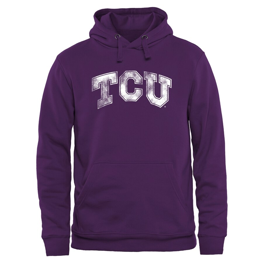 FANATICS BRANDED クラシック 【 TCU HORNED FROGS CLASSIC PRIMARY PULLOVER HOODIE PURPLE 】 メンズファッション トップス パーカー 送料無料
