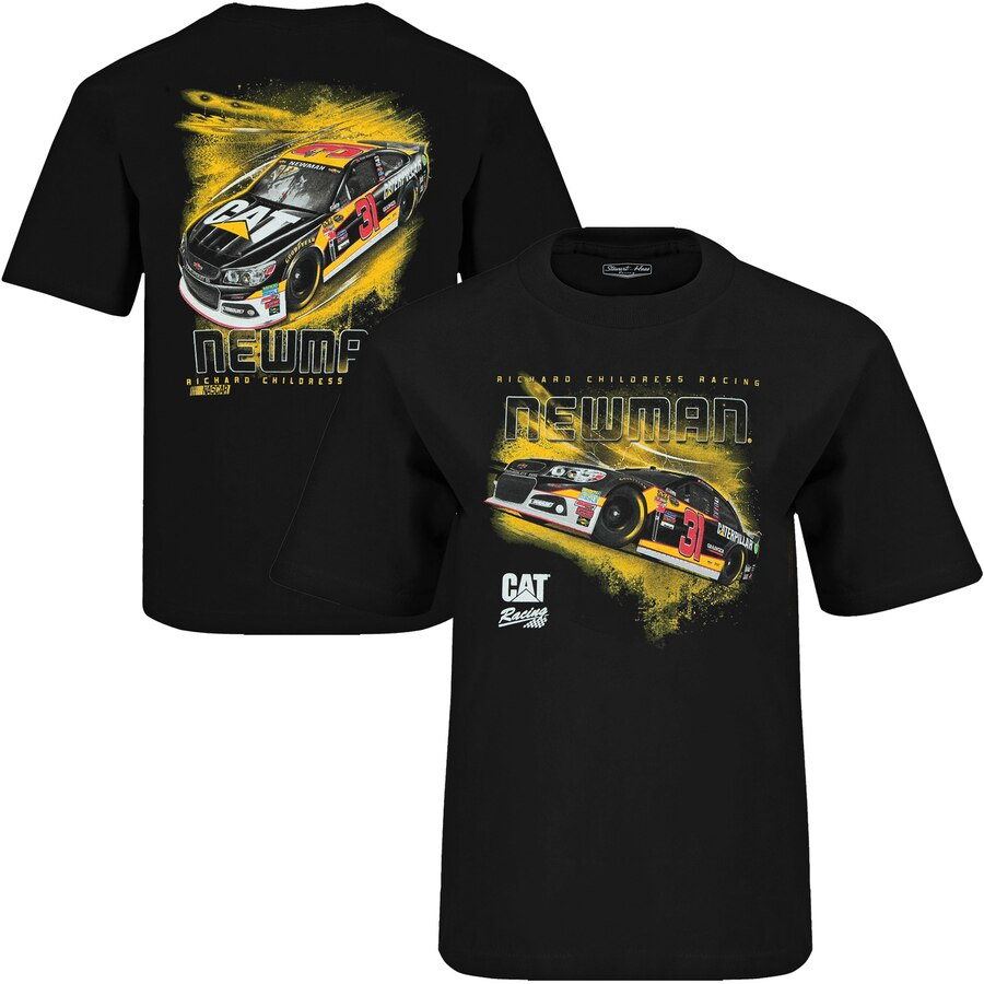 CHECKERED FLAG 子供用 Tシャツ 【 RYAN NEWMAN YOUTH CAT GRANDSTAND TSHIRT BLACK 】 キッズ ベビー マタニティ トップス 送料無料