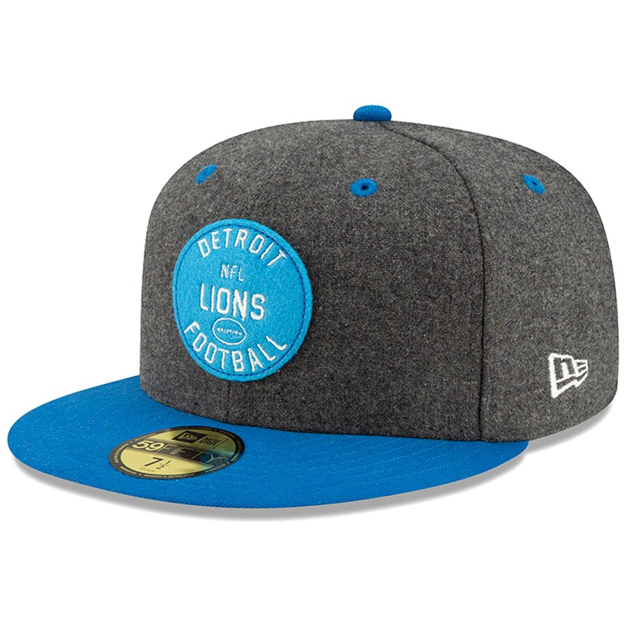 NFL Detroit Lions New Era Heather Camo Low Profile 59FIFTY Fitted Cap Hat
