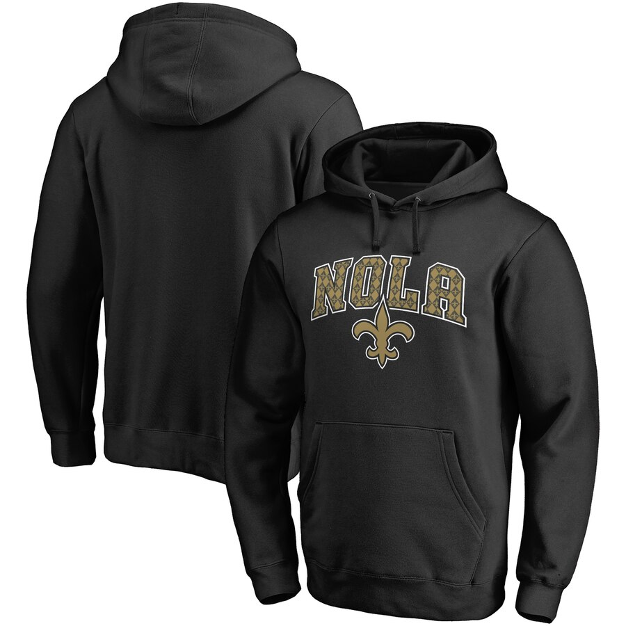 NFL PRO LINE BY FANATICS BRANDED セインツ プロ コレクション 【 NEW ORLEANS SAINTS HOMETOWN COLLECTION PULLOVER HOODIE BLACK 】 メンズファッション トップス パーカー 送料無料