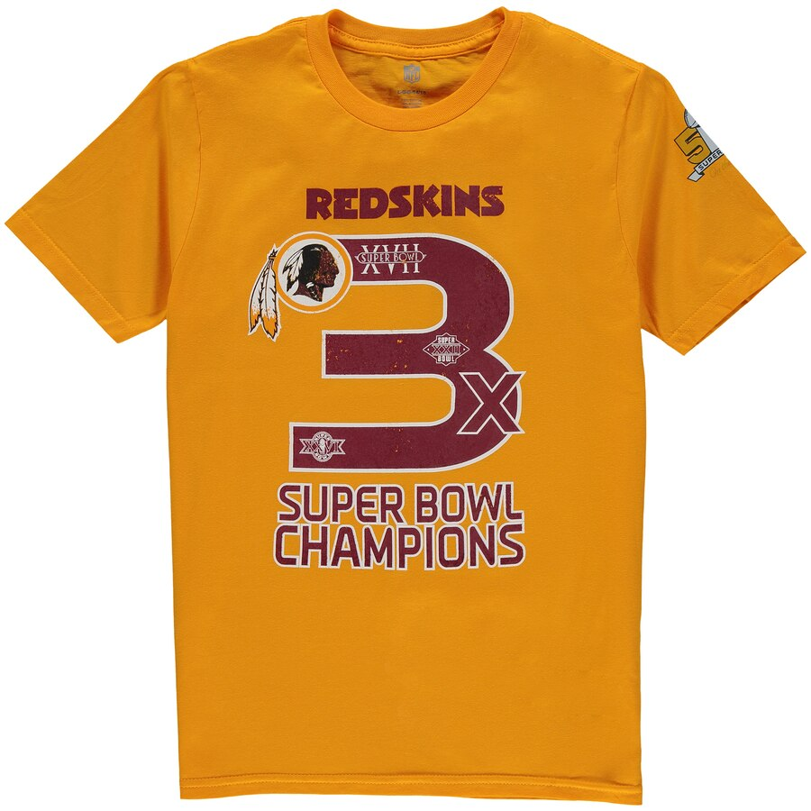 OUTERSTUFF ワシントン レッドスキンズ 子供用 Tシャツ 【 WASHINGTON REDSKINS YOUTH ON THE FIFTY SUPER BOWL WINS TSHIRT GOLD 】 キッズ ベビー マタニティ トップス 送料無料