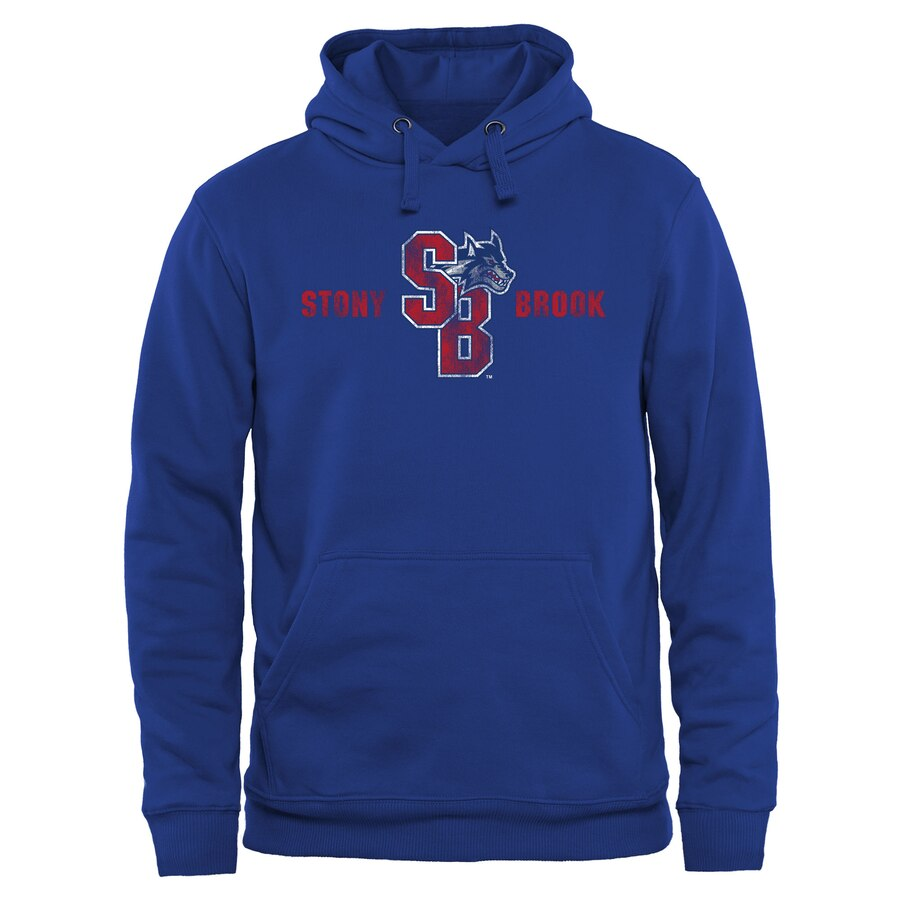 FANATICS BRANDED ブルック クラシック 【 STONY BROOK SEAWOLVES CLASSIC WORDMARK PULLOVER HOODIE ROYAL 】 メンズファッション トップス パーカー 送料無料
