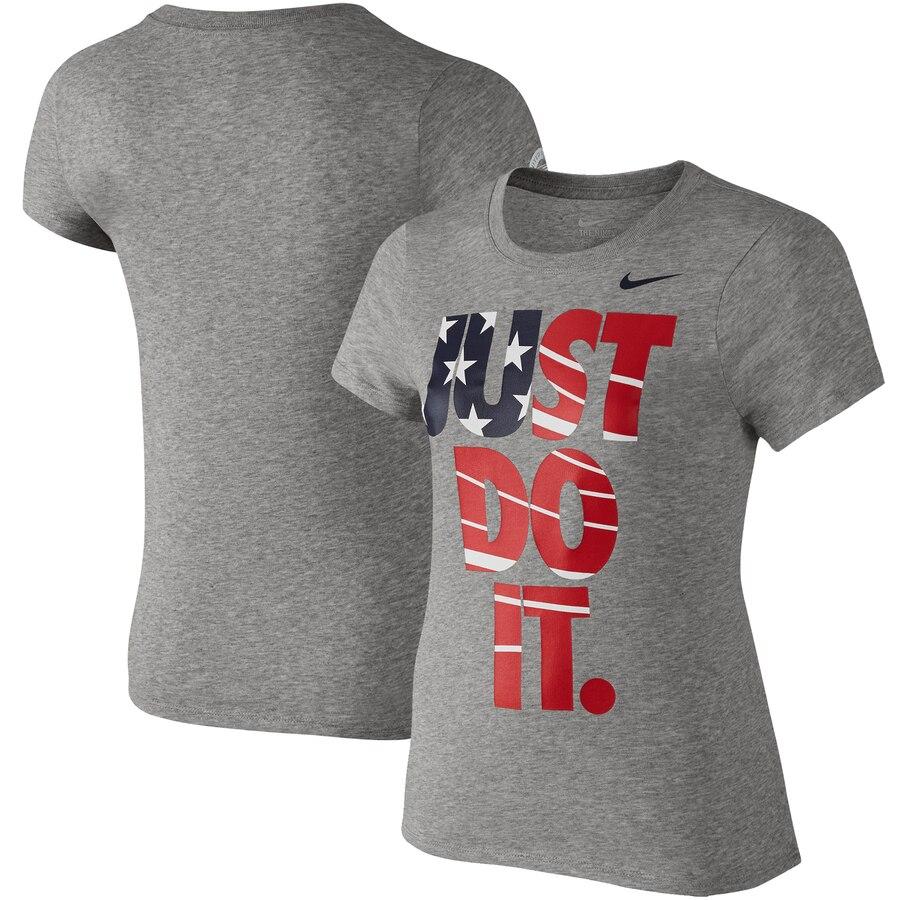 ナイキ NIKE チーム 子供用 パフォーマンス Tシャツ 【 TEAM USA GIRLS YOUTH JUST DO IT FLAG PERFORMANCE TSHIRT BLACK GRAY 】 キッズ ベビー マタニティ トップス 送料無料
