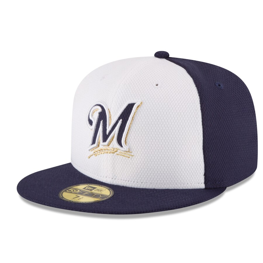 MLB Cap Royal Blue New Era 5950 Milwaukee Brewers ALT Fitted Hat