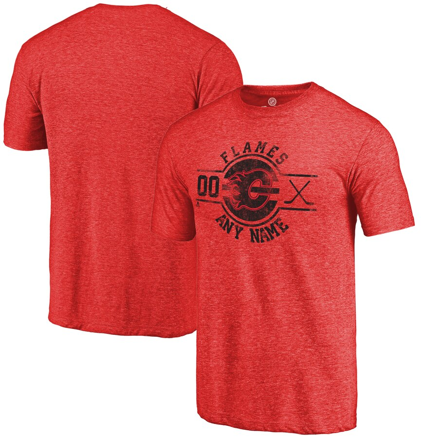 【NeaYearSALE1/1-1/5】FANATICS BRANDED Tシャツ 【 CALGARY FLAMES PERSONALIZED INSIGNIA TRIBLEND TSHIRT RED 】 メンズファッション トップス カットソー 送料無料