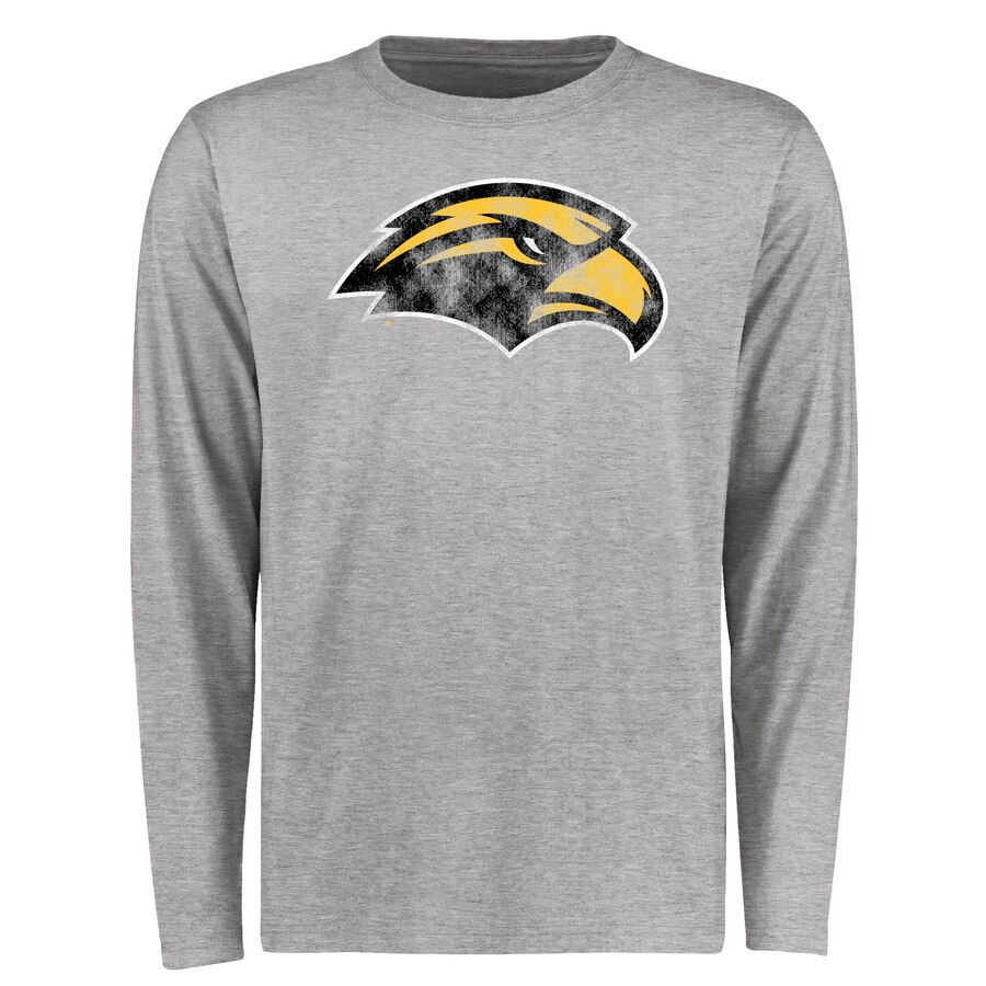 【NeaYearSALE1/1-1/5】FANATICS BRANDED イーグルス クラシック スリーブ Tシャツ & 【 SLEEVE SOUTHERN MISS GOLDEN EAGLES BIG TALL CLASSIC PRIMARY LONG TSHIRT ASH 】 メンズファッション トップス カットソー 送料無料
