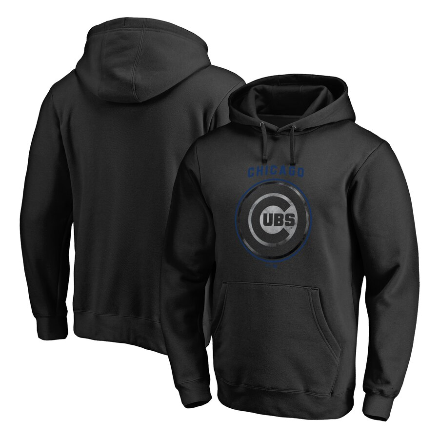 FANATICS BRANDED シカゴ カブス 【 CHICAGO CUBS ARCH SMOKE PULLOVER HOODIE BLACK 】 メンズファッション トップス パーカー 送料無料