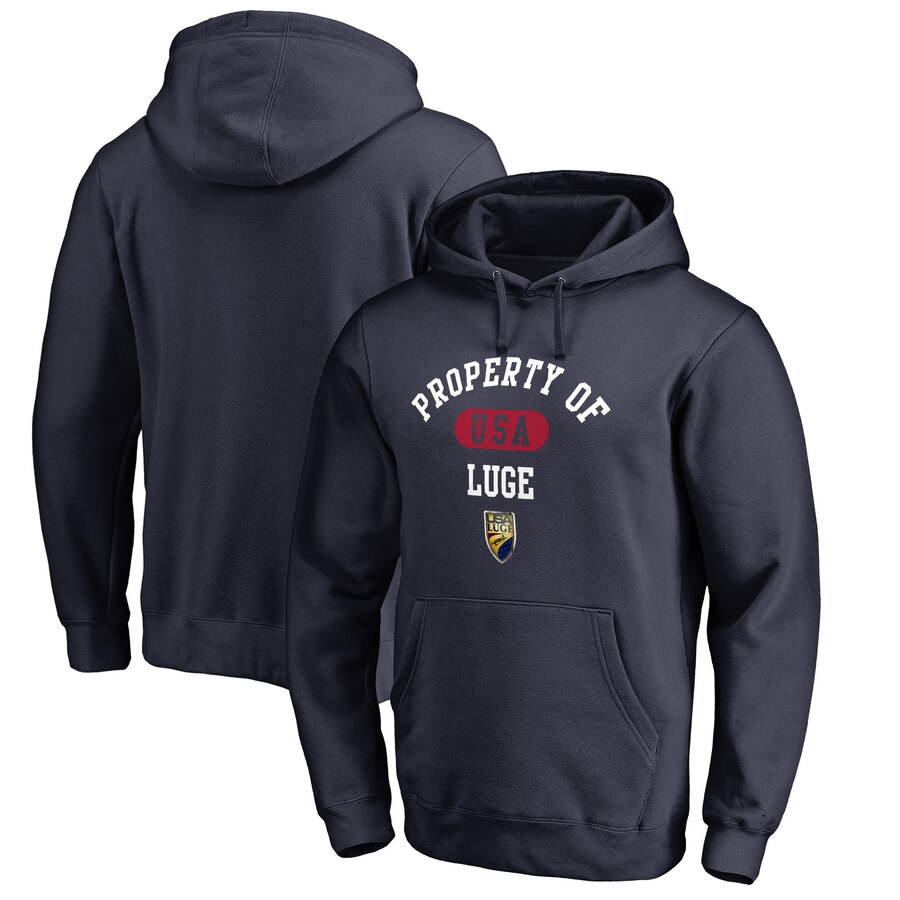 FANATICS BRANDED & 【 USA LUGE PROPERTY OF BIG TALL PULLOVER HOODIE NAVY 】 メンズファッション トップス パーカー 送料無料