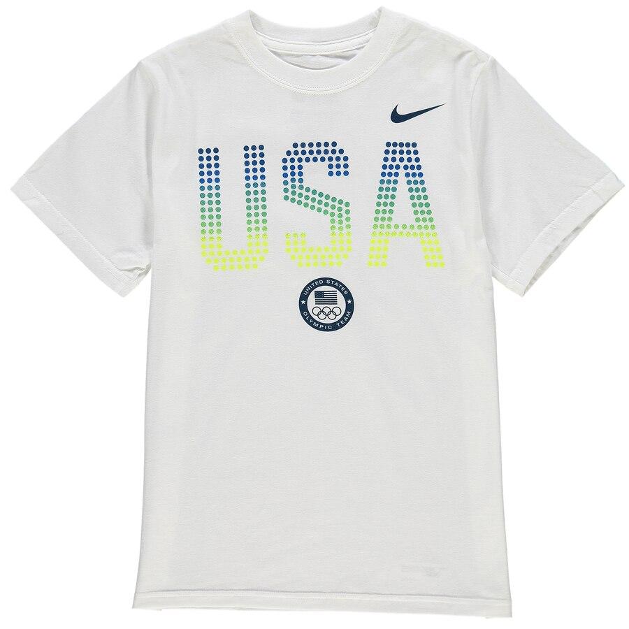 ナイキ NIKE チーム 子供用 Tシャツ 白 ホワイト キッズ ベビー マタニティ トップス ジュニア 【 Team Usa Youth Mvp T-shirt - White 】 White