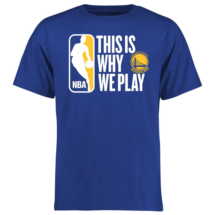 【NeaYearSALE1/1-1/5】FANATICS BRANDED スケートボード ウォリアーズ Tシャツ 【 STATE GOLDEN WARRIORS THIS IS WHY WE PLAY TSHIRT ROYAL 】 メンズファッション トップス カットソー 送料無料