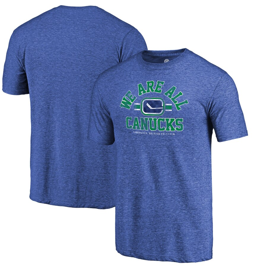 【NeaYearSALE1/1-1/5】FANATICS BRANDED コレクション Tシャツ 【 VANCOUVER CANUCKS ARCH HOMETOWN COLLECTION TRIBLEND TSHIRT BLUE 】 メンズファッション トップス カットソー 送料無料