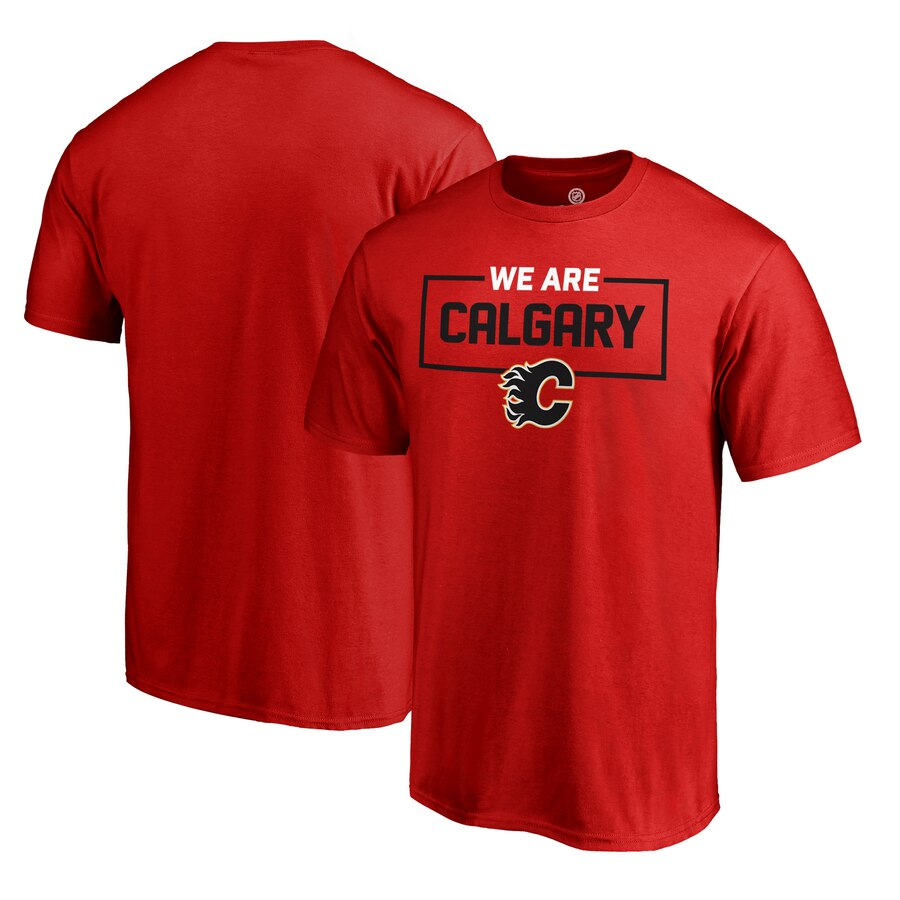 【NeaYearSALE1/1-1/5】FANATICS BRANDED コレクション Tシャツ 【 CALGARY FLAMES ICONIC COLLECTION WE ARE TSHIRT RED 】 メンズファッション トップス カットソー 送料無料