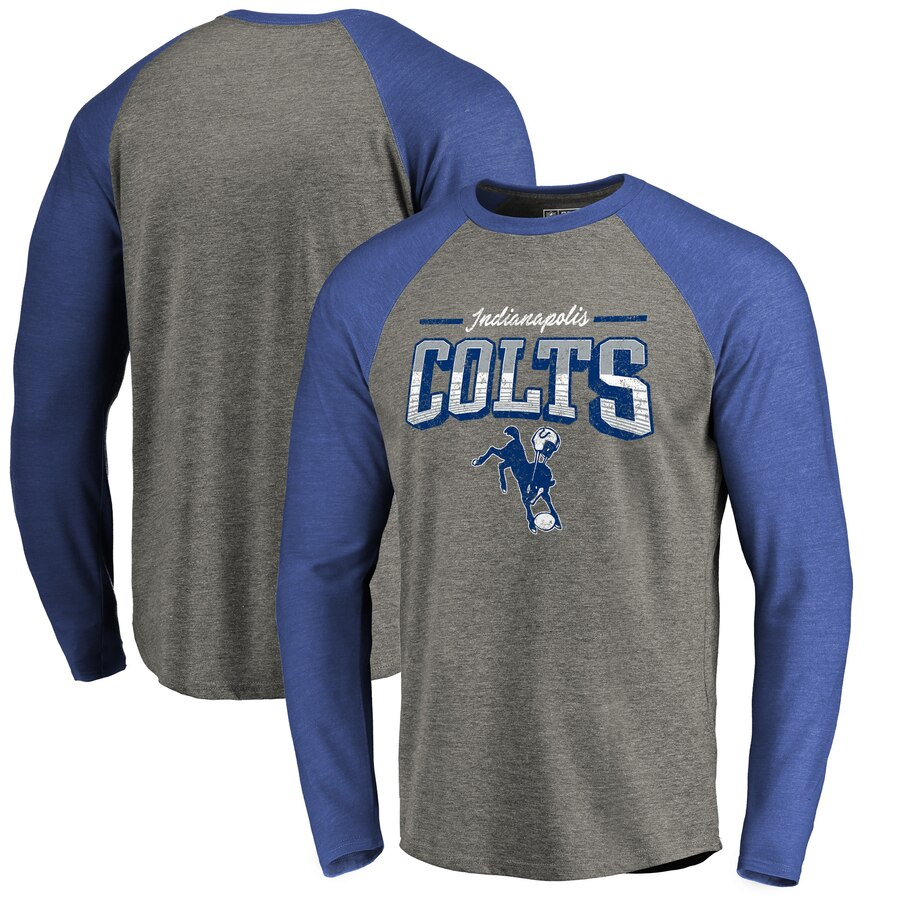 【NeaYearSALE1/1-1/5】NFL PRO LINE BY FANATICS BRANDED インディアナポリス コルツ プロ コレクション スリーブ ラグラン Tシャツ & 【 SLEEVE RAGLAN INDIANAPOLIS COLTS THROWBACK COLLECTION SEASON TICKET BIG TALL LONG TRIBLEND TSHIRT HEATHERE
