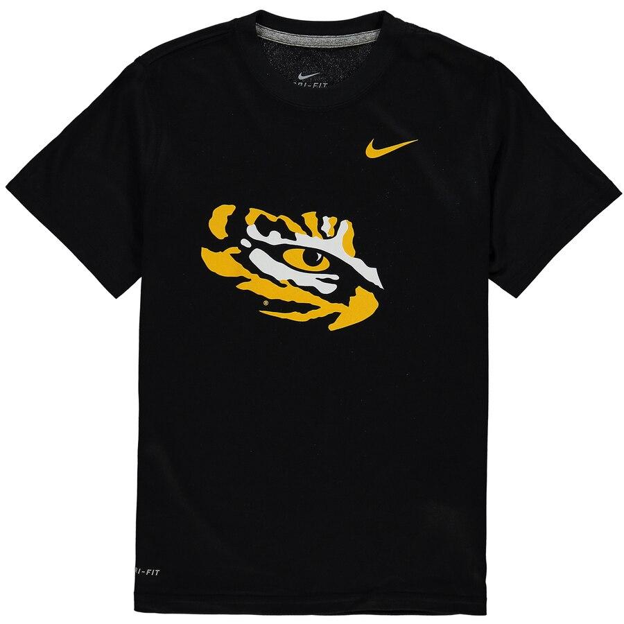 ナイキ NIKE タイガース 子供用 ロゴ レジェンド ドライフィット Tシャツ キッズ ベビー マタニティ トップス ジュニア 【 Lsu Tigers Youth Logo Legend Dri-fit T-shirt 】 Black
