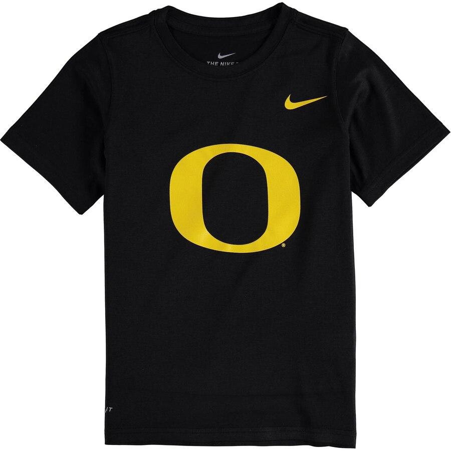 ナイキ NIKE オレゴン 子供用 ロゴ レジェンド ドライフィット Tシャツ キッズ ベビー マタニティ トップス ジュニア 【 Oregon Ducks Youth Logo Legend Dri-fit T-shirt 】 Black