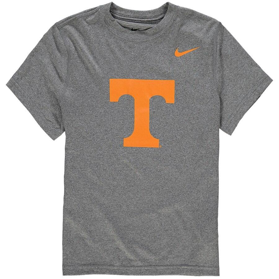 ナイキ NIKE テネシー 子供用 ロゴ レジェンド ドライフィット Tシャツ キッズ ベビー マタニティ トップス ジュニア 【 Tennessee Volunteers Youth Logo Legend Dri-fit T-shirt 】 Heather Gray