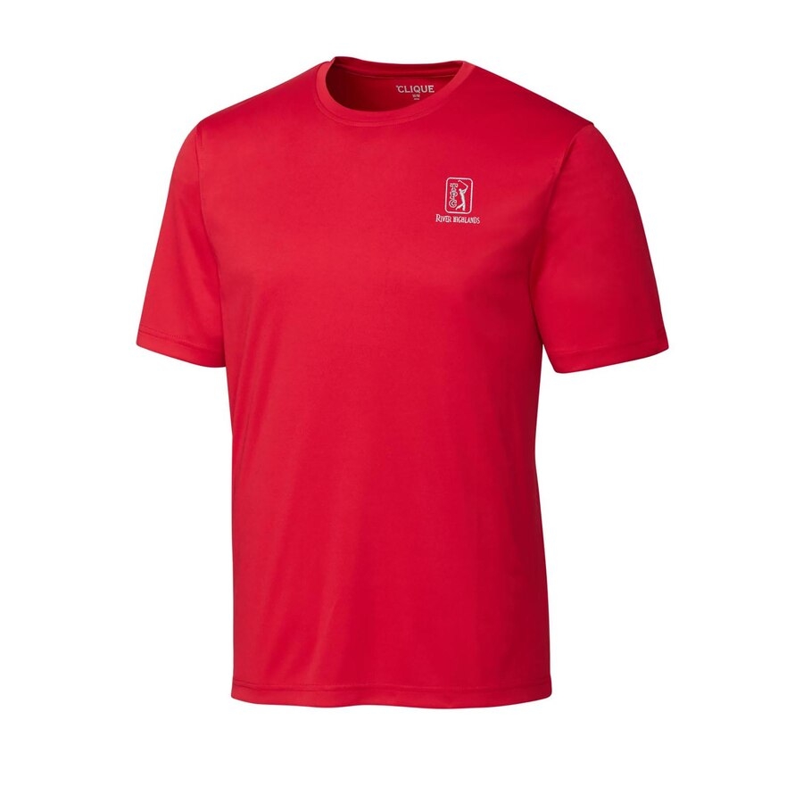 CUTTER & BUCK ジャージ Tシャツ 【 TPC RIVER HIGHLANDS SPIN JERSEY TSHIRT GRAY RED 】 メンズファッション トップス カットソー 送料無料