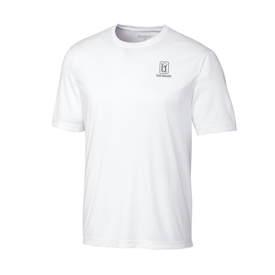 CUTTER & BUCK ジャージ Tシャツ 【 TPC RIVER HIGHLANDS SPIN JERSEY TSHIRT ROYAL WHITE 】 メンズファッション トップス カットソー 送料無料